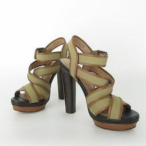 Ann Taylor Rosemary Canvas Strappy Platform